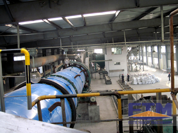 Fluorite Powder Dryer Work Site